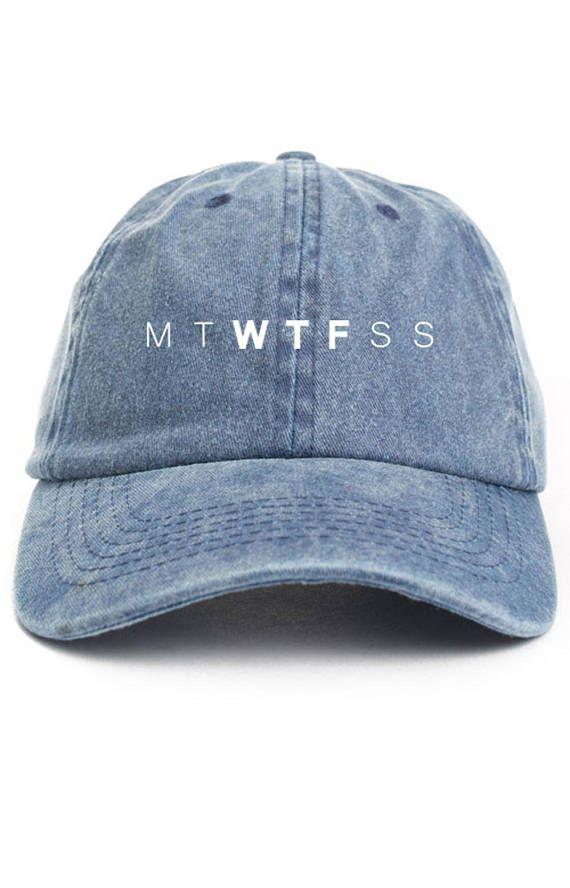 49847dd6d7b51 WTF week Dad Hat Adjustable Baseball Cap New - Denim