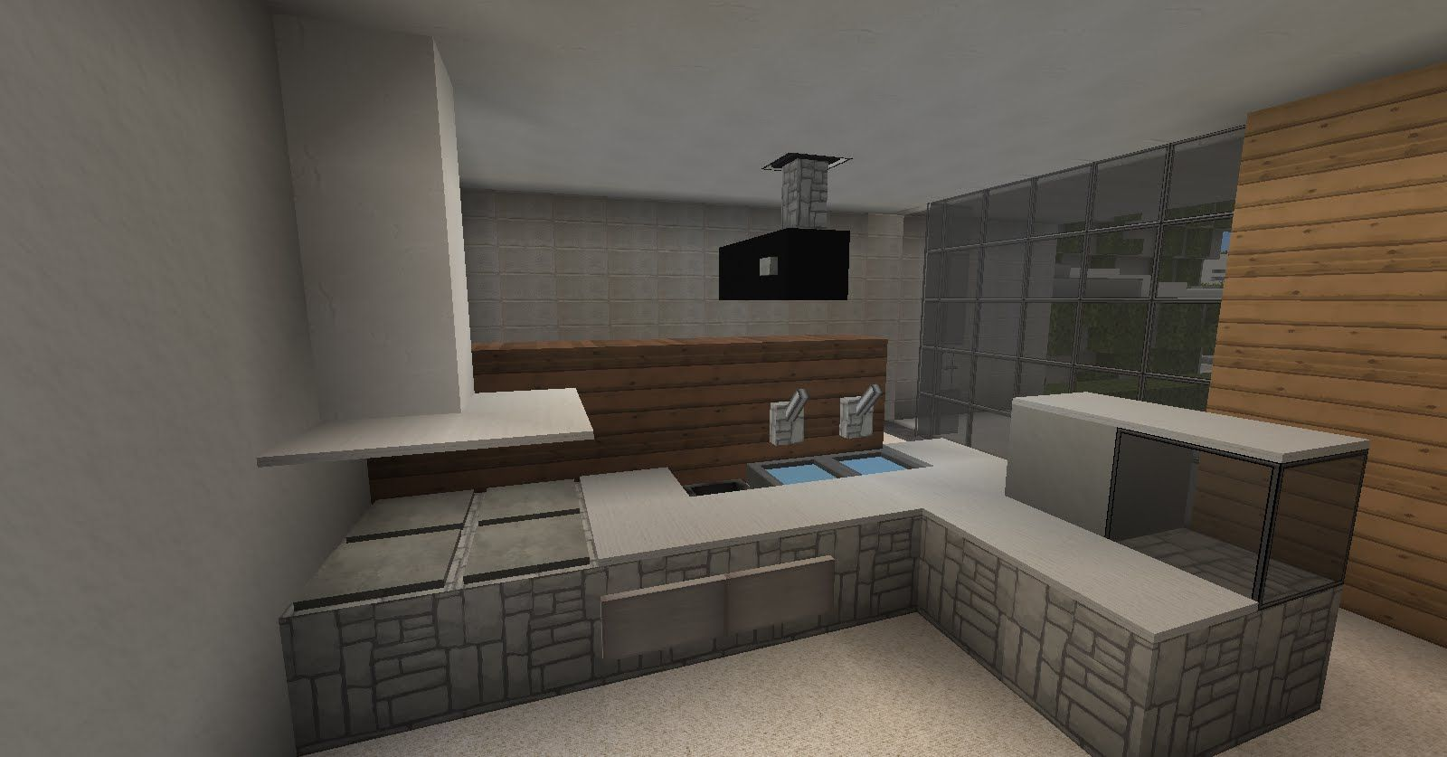 MINECRAFT TUTO - DECO INTERIEUR : MEUBLES 2/2 | minecraft ...