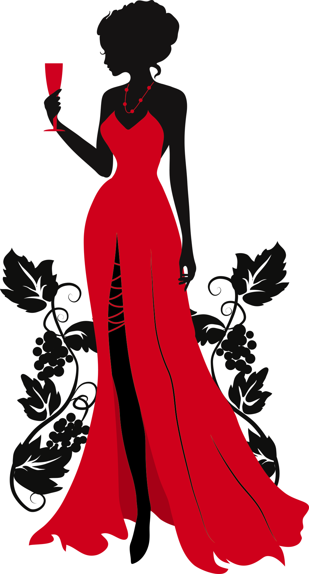49011 Png 1000 1857 Beautiful Red Dresses Dress Silhouette Woman Silhouette