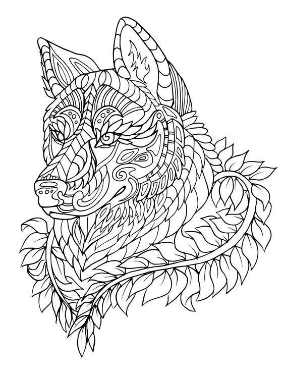 coloriage pour adultes | Coloriage loup, Coloriage, Mandala à colorier