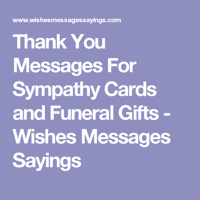 thank you message for sympathy wishes