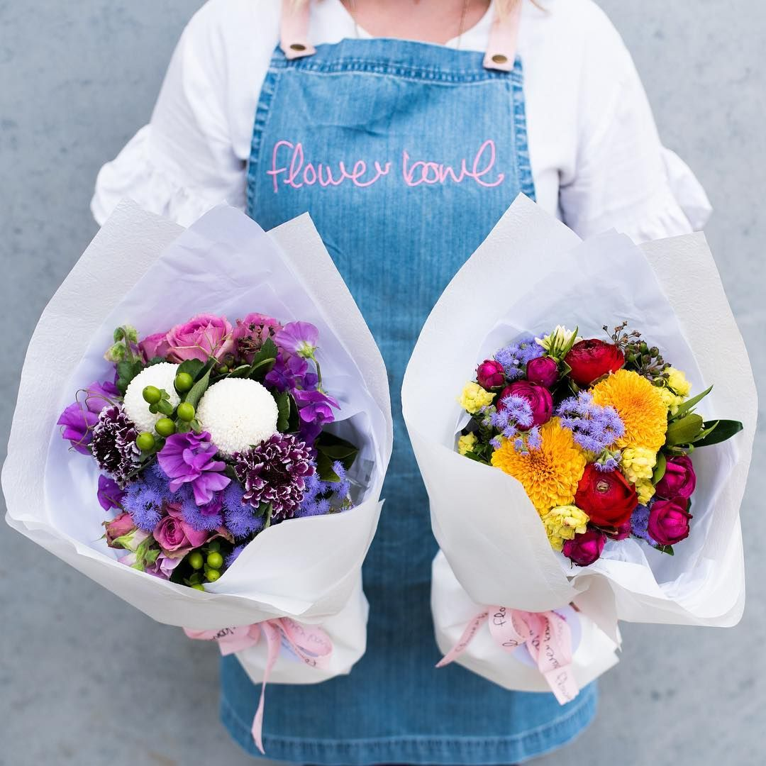 Flower Bowl in Geelong wear Cargo Crew's Ace Denim Apron
