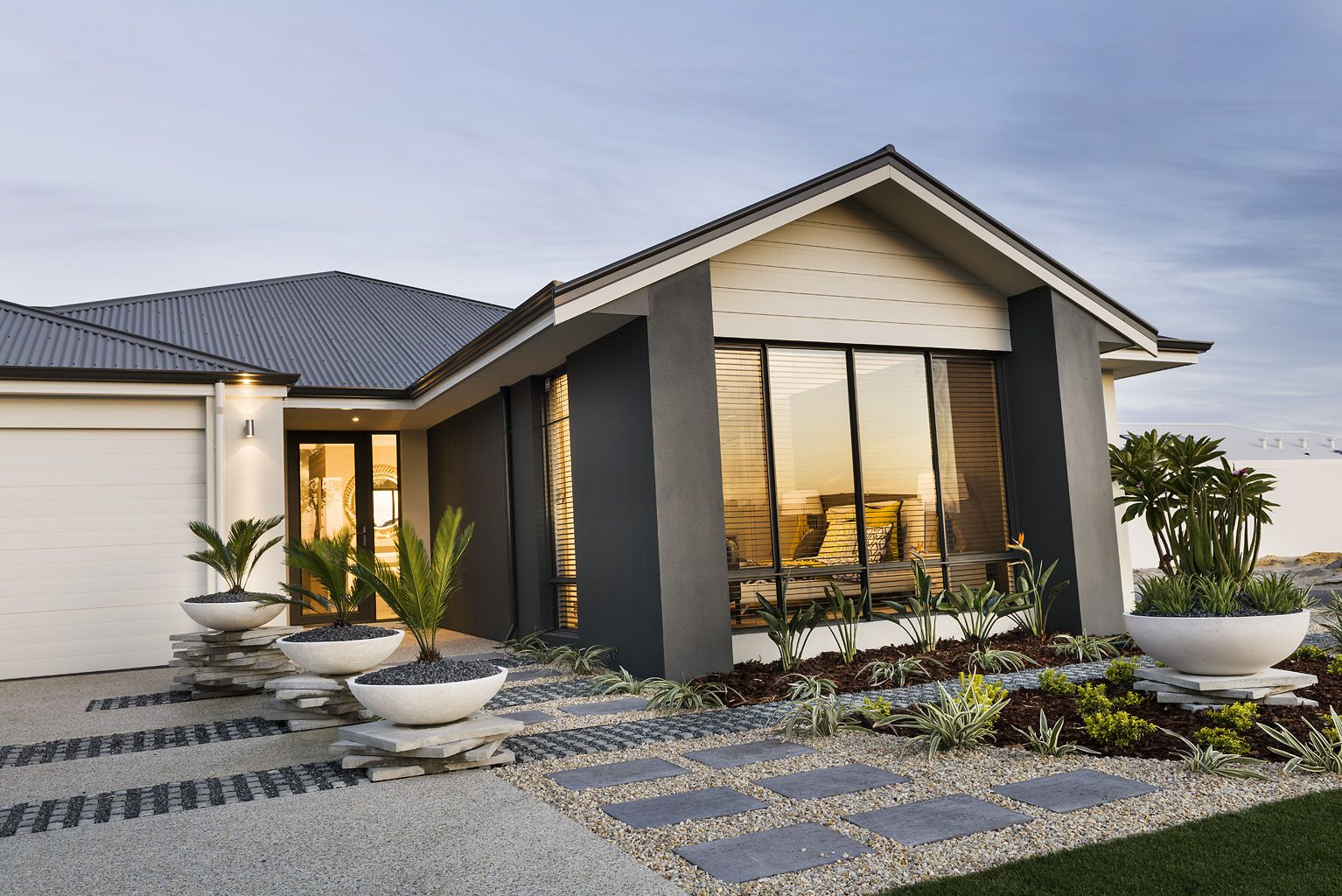 Best 'Redford' Display Home Opens This Weekend Celebration Homes Facade House Rendered Houses 400 x 300