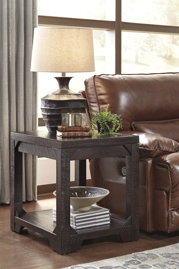 Rogness Rustic Brown Rectangular End Table Table