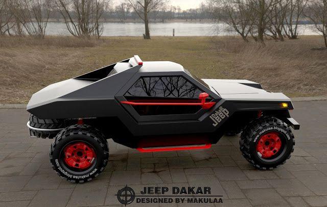 Monster Porsche Hurricane Concept Design: MONGOLIAN CAR Designer By Makulaa: Jeep DakaR CONCEPT