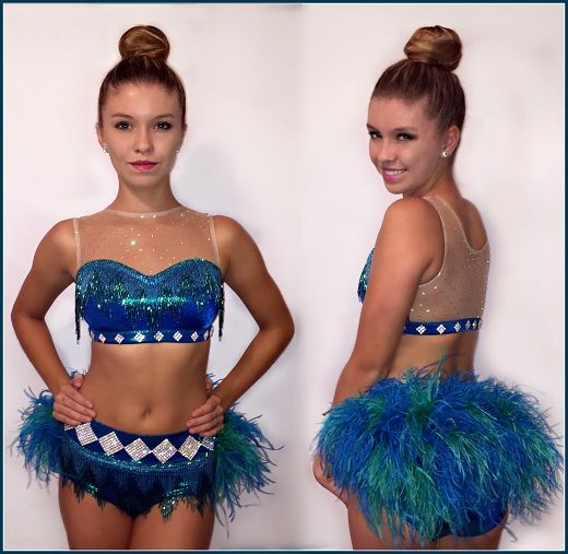 Blue Fringe dance costume blue Jazz custom dance costume dance competition costume Blue jazz Costume Jazz Dance Costume