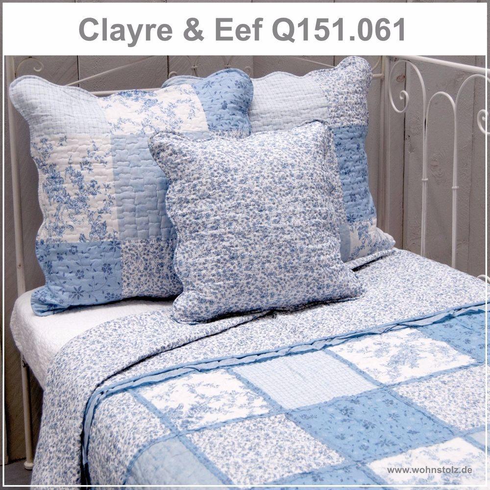 """Clayre /& Eef Bettüberwurf Tagesdecke /""""Herzchen/"""" 230x260 Quilt NEU!"""