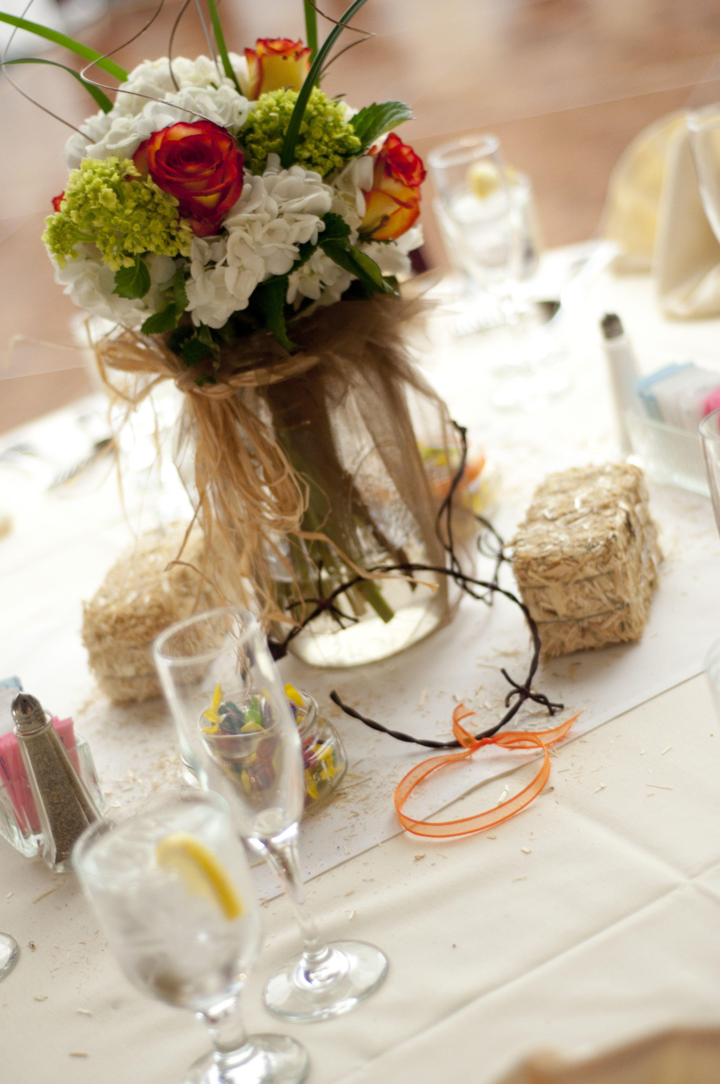 Western wedding table decorations