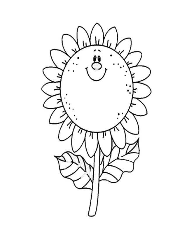Sunflower Coloring Page For Kids Download & Print Online