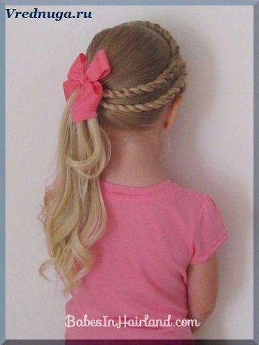 Колоски и косы - прически для девочек   Детские прически ...