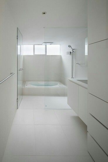 Not So Keen On The White Overdose But The Shower/bath Set Up Is Clever