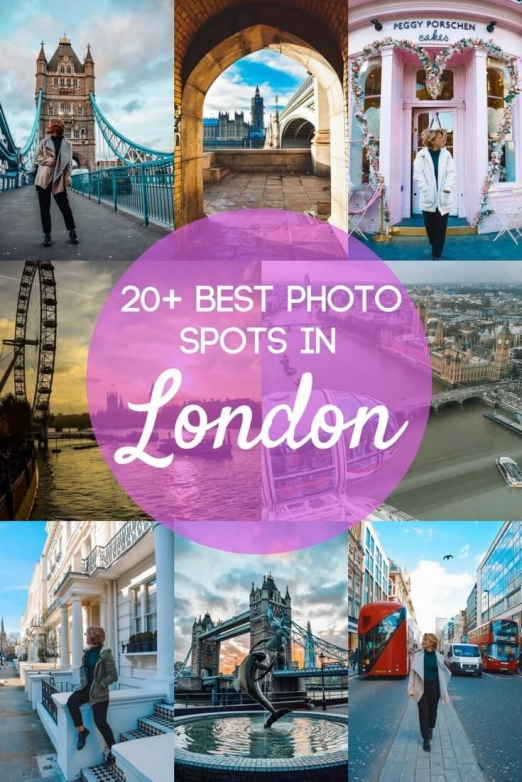Looking for the best photo spots in London? You've just found them. Check out this guide and map to the 22 most Instagrammable places in London so that you can go on your own self-guided tour of the UK's capital city and snap all the best photos to share on Instagram and make your friends jealous. #london #instagram #bestphotospot #ukdestinations #uk #destinations #bucket #lists