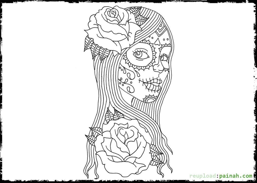 Day Of The Dead Coloring Pages For Adults - Coloring Pages ...