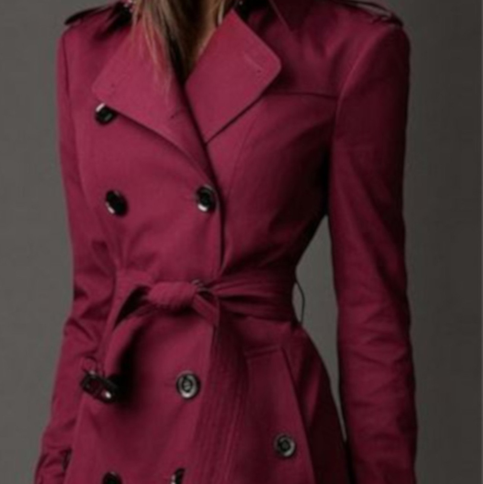 long red trench coat womens