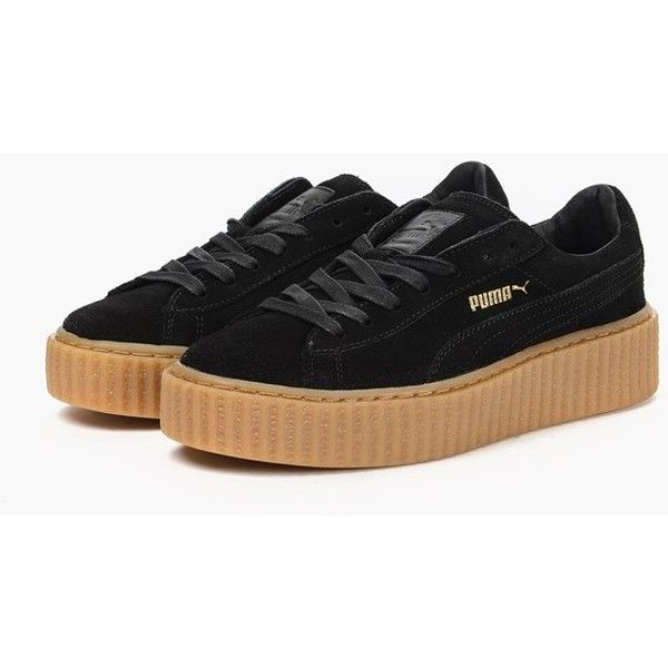 x Fenty by Rihanna Suede Creepers ( 199) ❤ liked on Polyvore featuring shoes  4b3cfb360