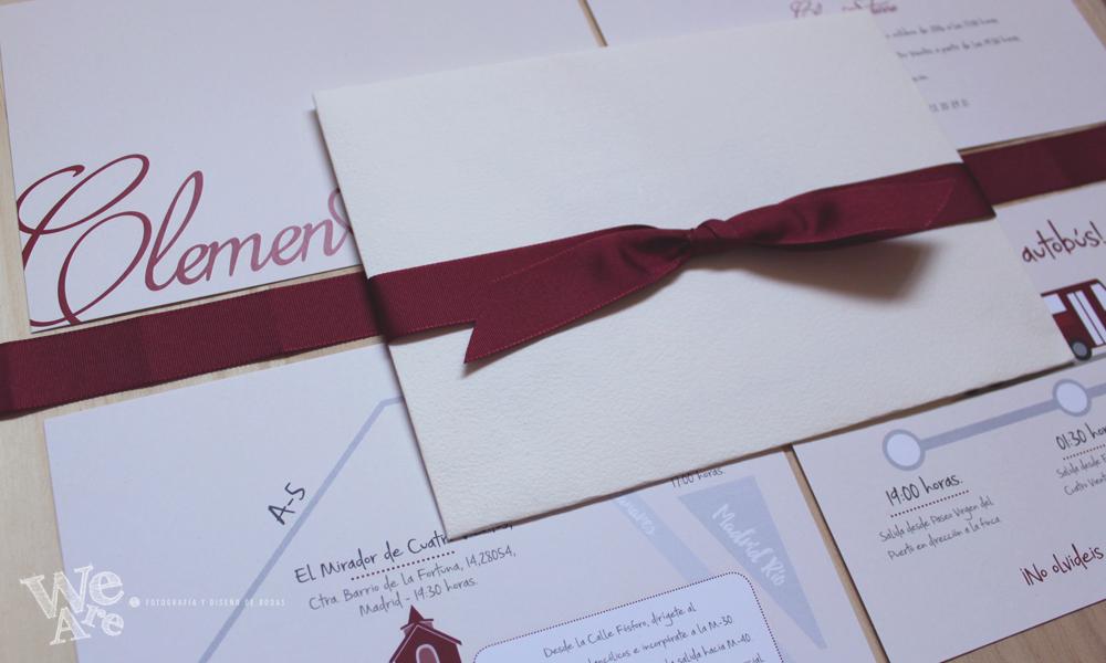 Invitaciones de boda color vino. Diseño y Decoración de boda color vino.