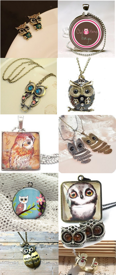 Owl Owl!! I'm always love you!!   http://www.luulla.com/product/126123/handmade-vintage-owl-pocket-watch-necklace-with-pearl-pendant