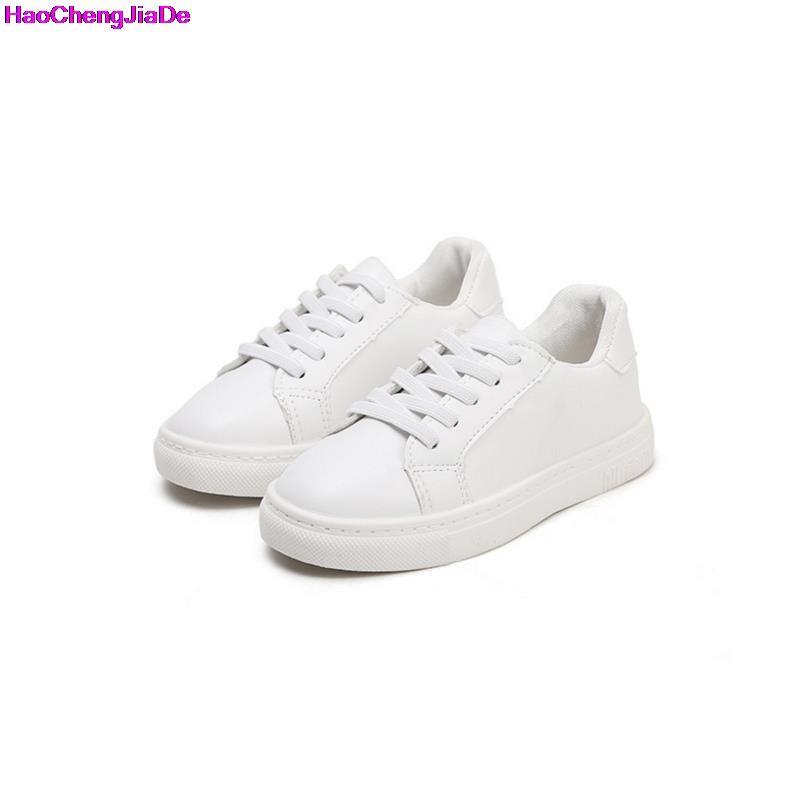 c2fb4465a HaoChengJiaDe Niños Sneakers Zapatos Deportivos de Cuero Blanco Zapatos del  Estudiante de La Escuela Niños Niñas