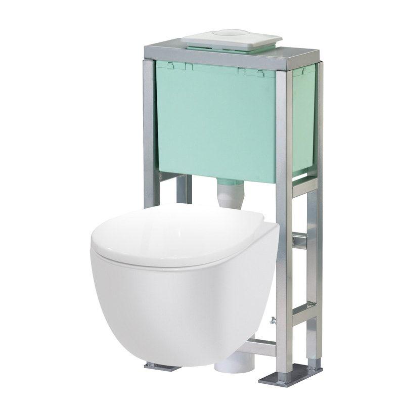 Pack Wc Suspendu Bati Sol Eureka 2 Leroy Merlin En 2020 Wc Suspendu Pack Wc Suspendu Toilette Suspendu