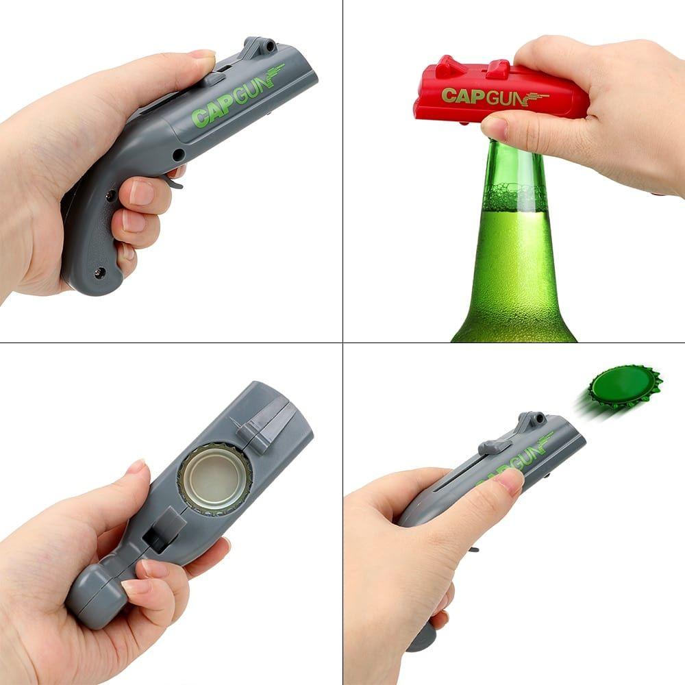 Creative Beer Bottle Opener Cap Shooter Gadget Beer Bottle Opener Bottle Cap Bottle Cap Launcher