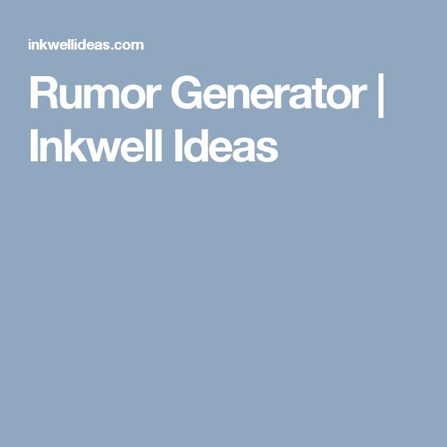 Rumor Generator | DnD homebrew custumization | Tabletop rpg