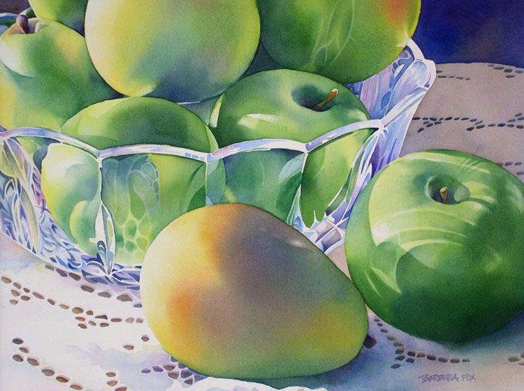 Barbara Fox Granny Smiths And Bartlets Watercolors Famous