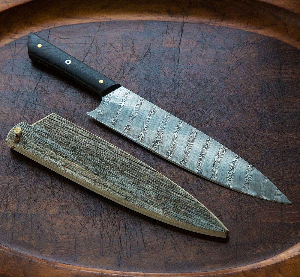 Damasteel & Bog Oak Chef 250mm | Knives and Custom knives