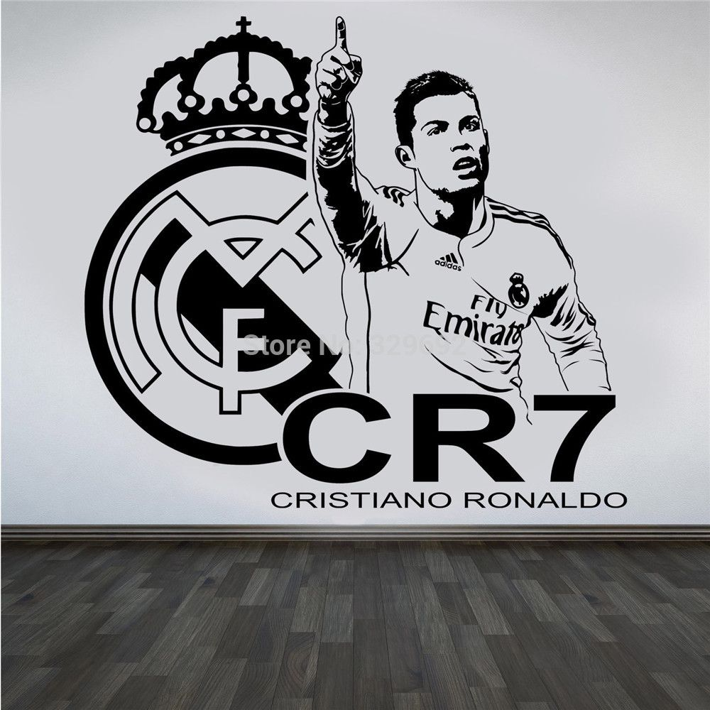 New Design 3d Poster Soccer Star CRISTIANO RONALDO Vinyl Wall ... for 3d Wall Graphic Design  585ifm