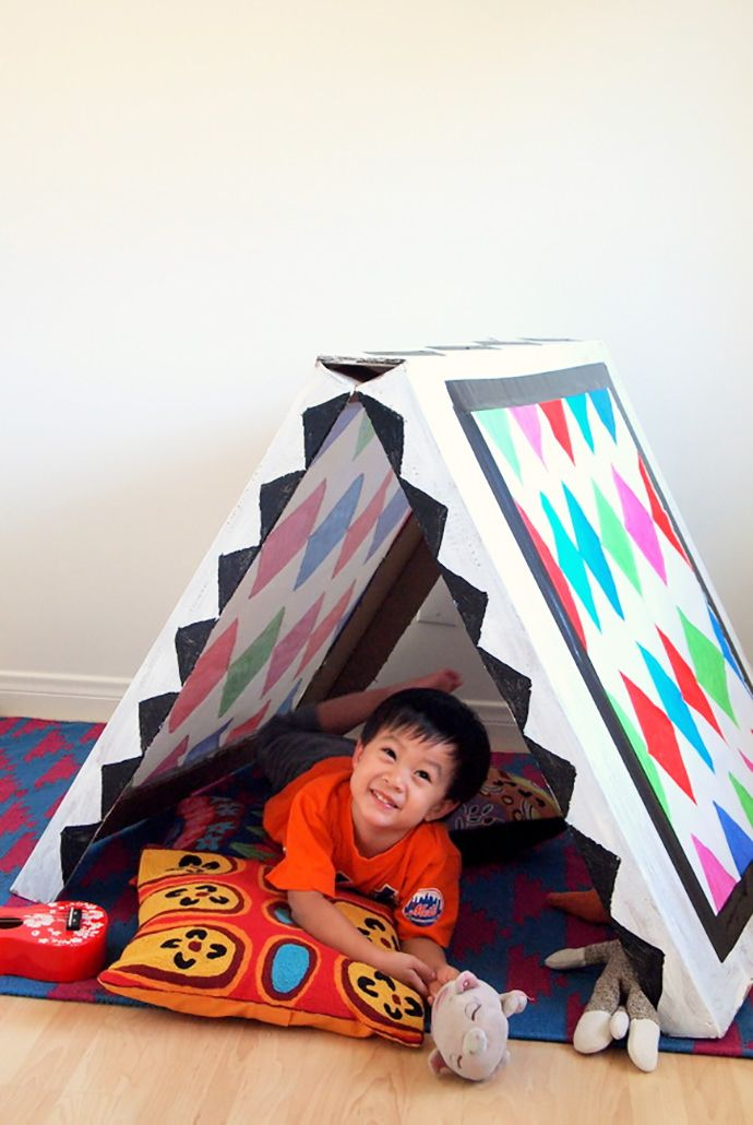 Build Your Own Collapsible Cardboard Tent Diy Tent