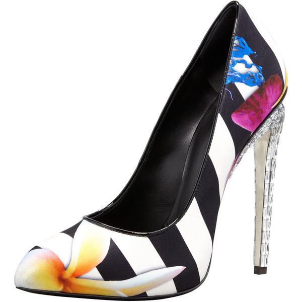 buy cheap eastbay Giuseppe Zanotti Satin Floral Pumps free shipping new styles outlet eastbay outlet with paypal order online 2014 newest cheap price O4DXN