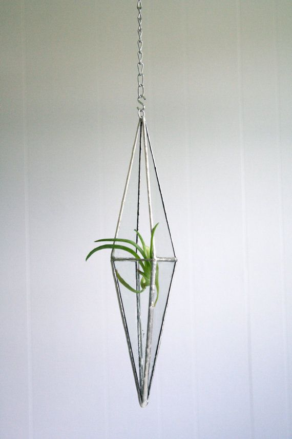 Terrarium Stained glass hanging terrarium by Crystallographie, $40.00