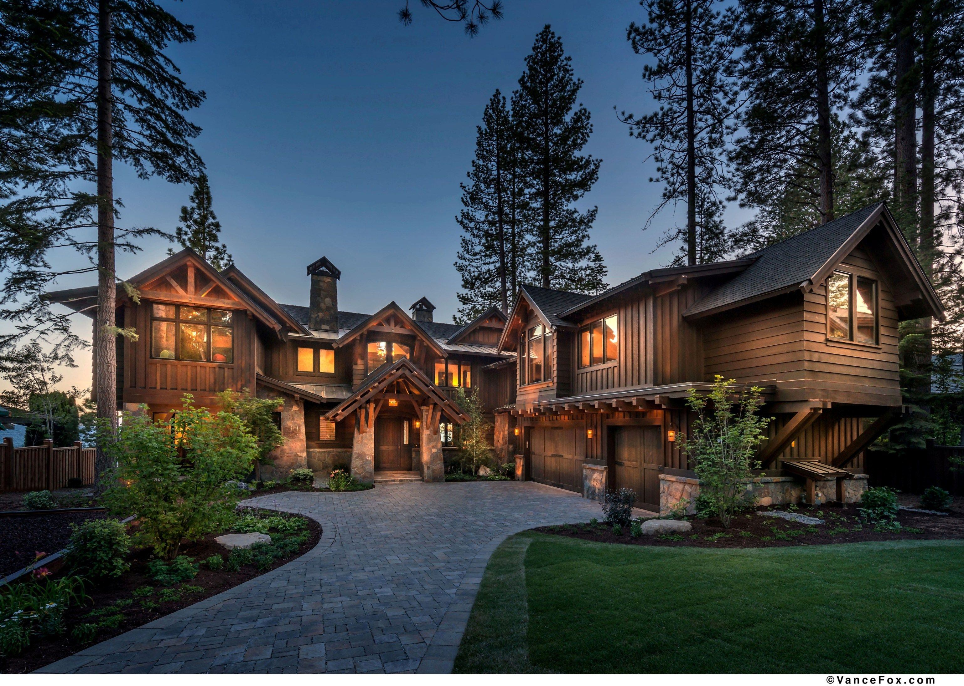 North shore lake tahoe custom home built by nsm Lake house builders