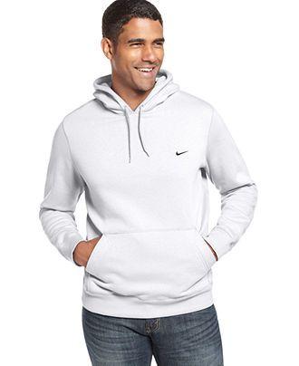 aa49ad4ba252 Nike Sweatshirt, Classic Pullover Fleece Hoodie - Mens Shop All Activewear  - Macy's - White - Medium