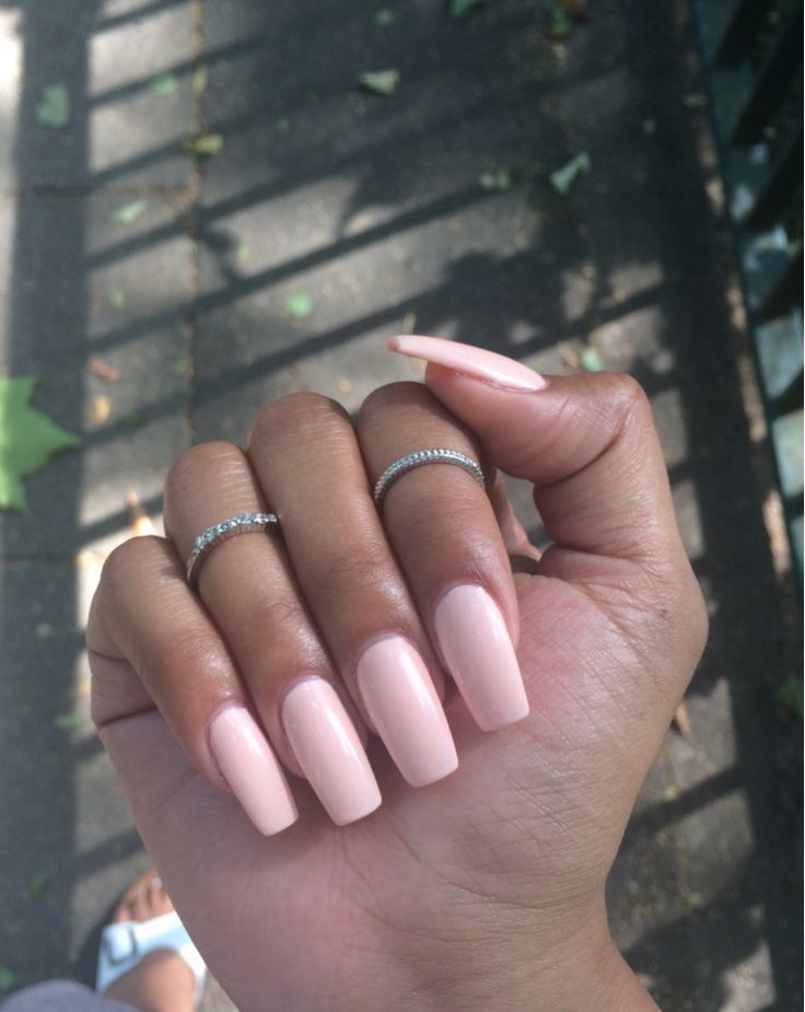 Light Pink Square Tip Nails Pink Acrylic Nails Nails Pink Nails