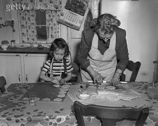 Image result for black and white photos of grandma and child making pastry