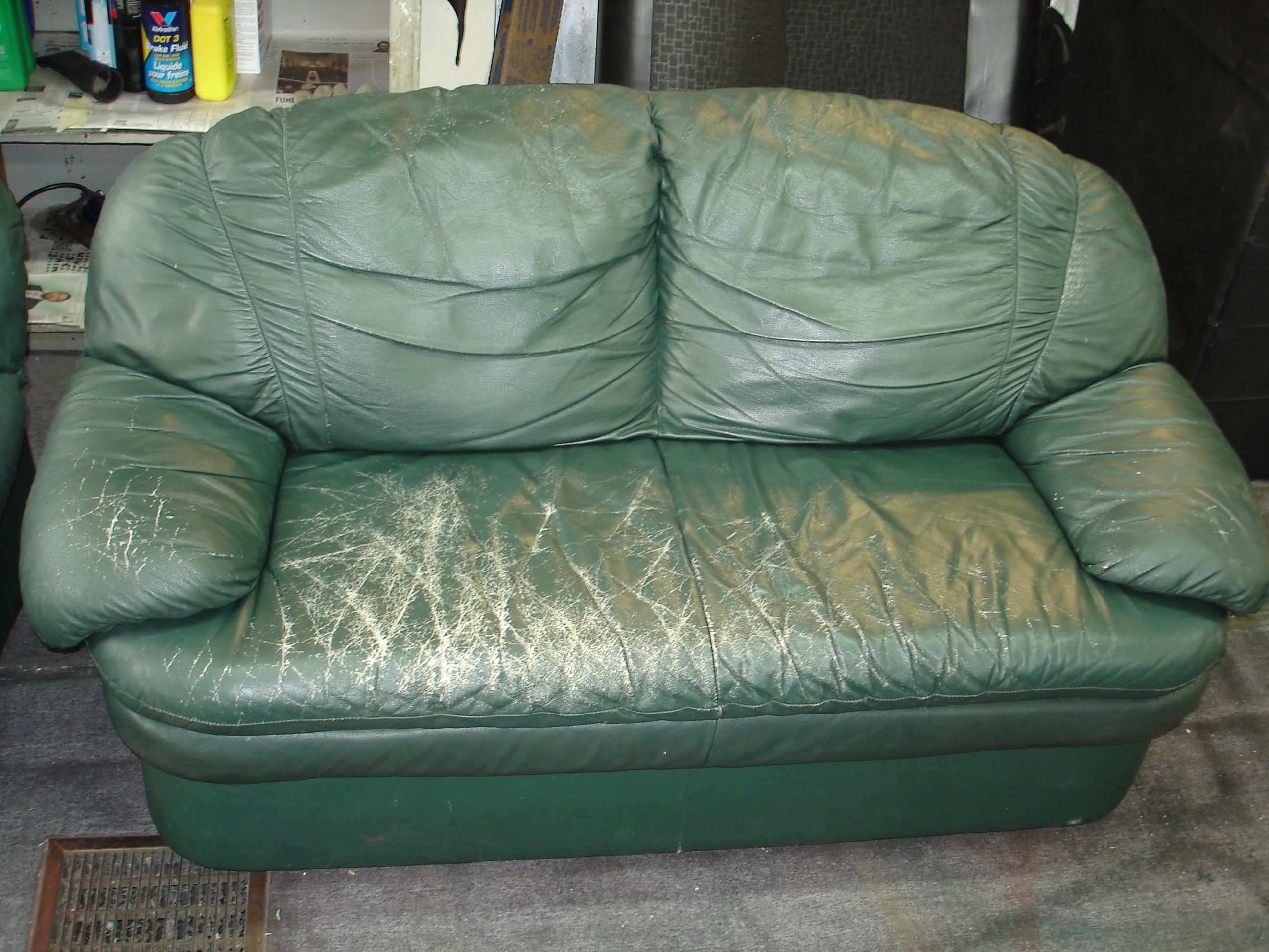 Superieur This Couch Needs Help!  Lets Clean, Repair All Cracks And Apply Our Leather