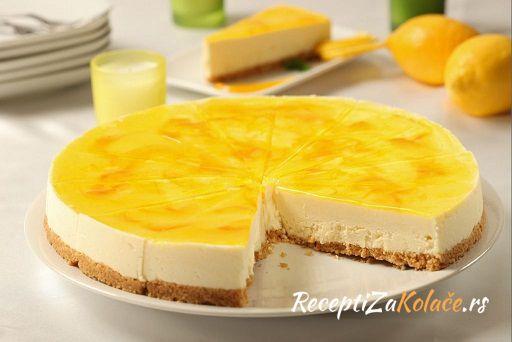 Cheesecake sa limunom  http://www.receptizakolace.rs/kolaci-recepti/torte-recepti/202-cheesecake-sa-limunom