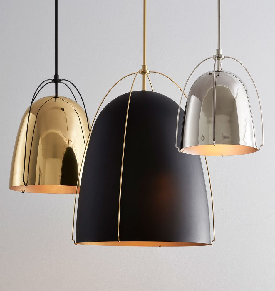 Haleigh 12 Lacquered Br Dome Pendant In 2019 House