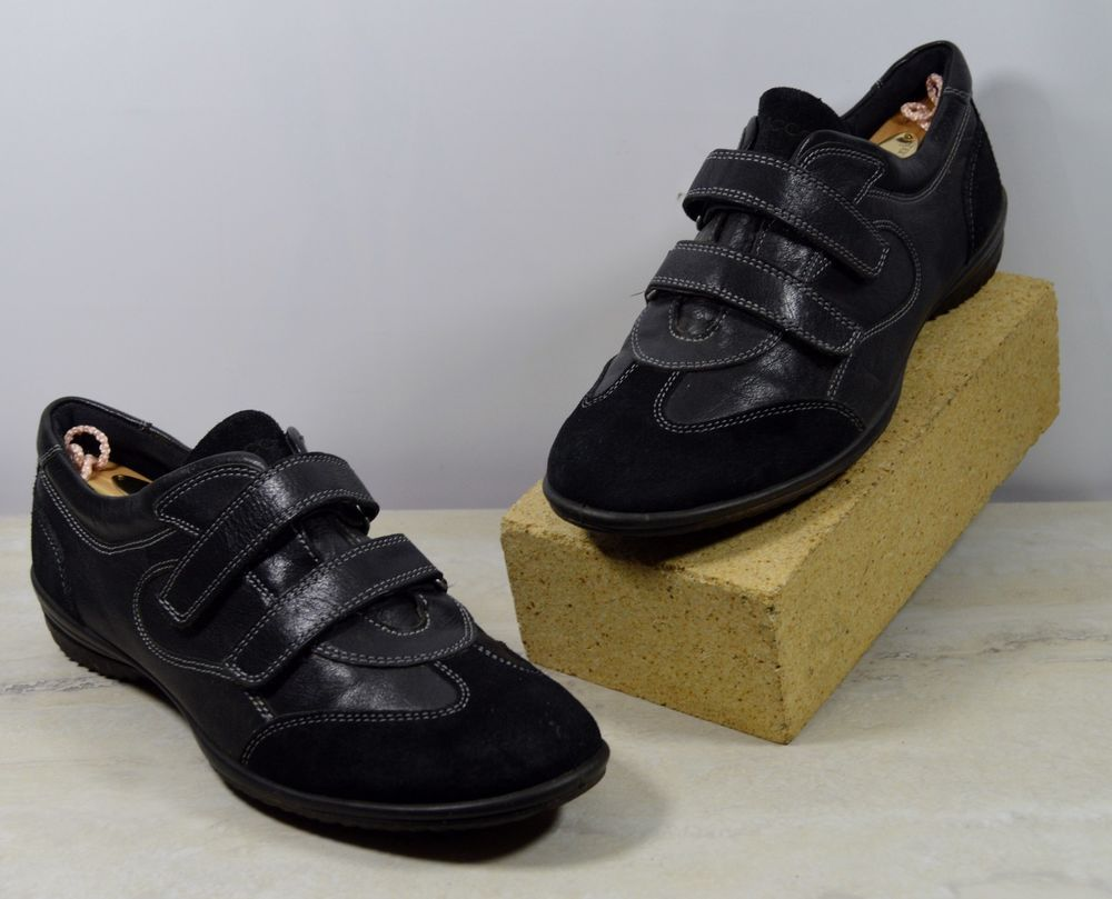 Black · Ecco 38 Black Suede Leather Sneakers Women's US Size 7-7.5 ...