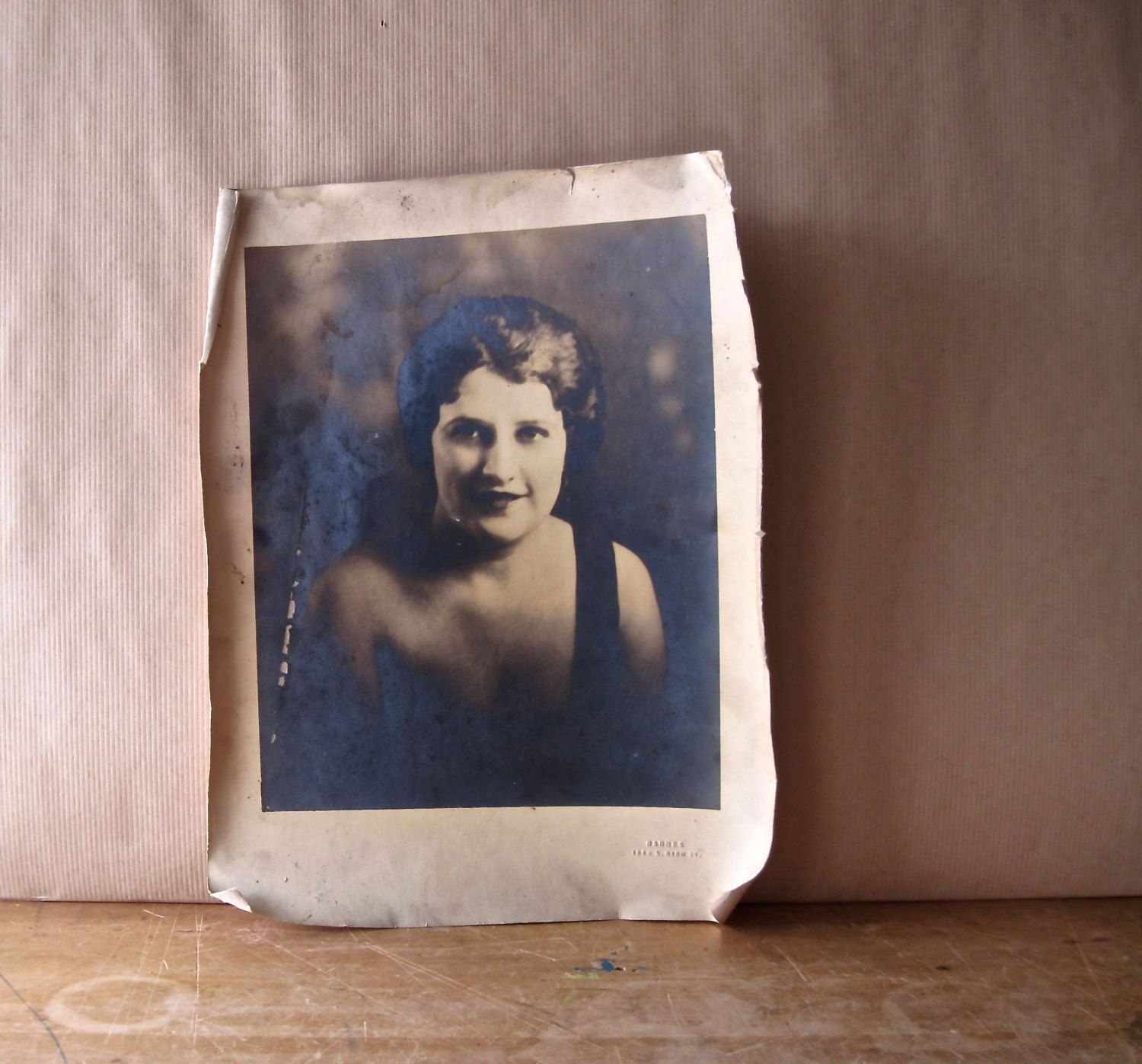 Antique Vintage Sepia Photograph of Woman in Black Dress by RushCreekVintage on Etsy
