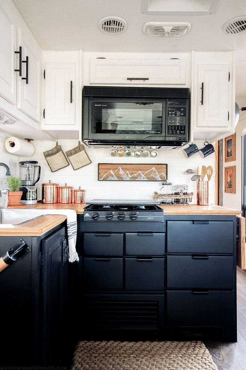 Rustic Modern Rv Tour Mountainmodernlife Com Kitchen Remodel Kitchen Renovation Rustic Remodel