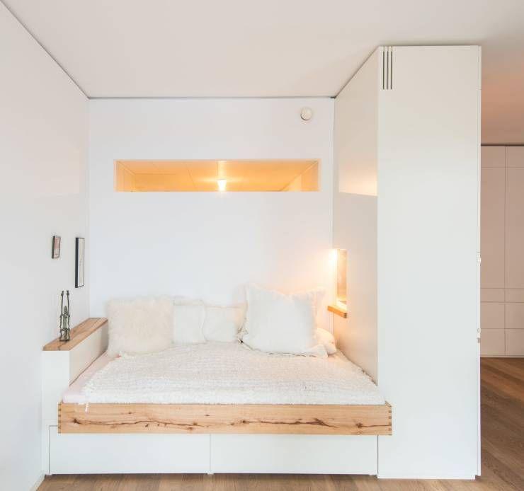 Schlafnische Mit Fenstern Von Holzgeschichten. In Dem Artikel Findest Du 10  Ideen, Wie Man