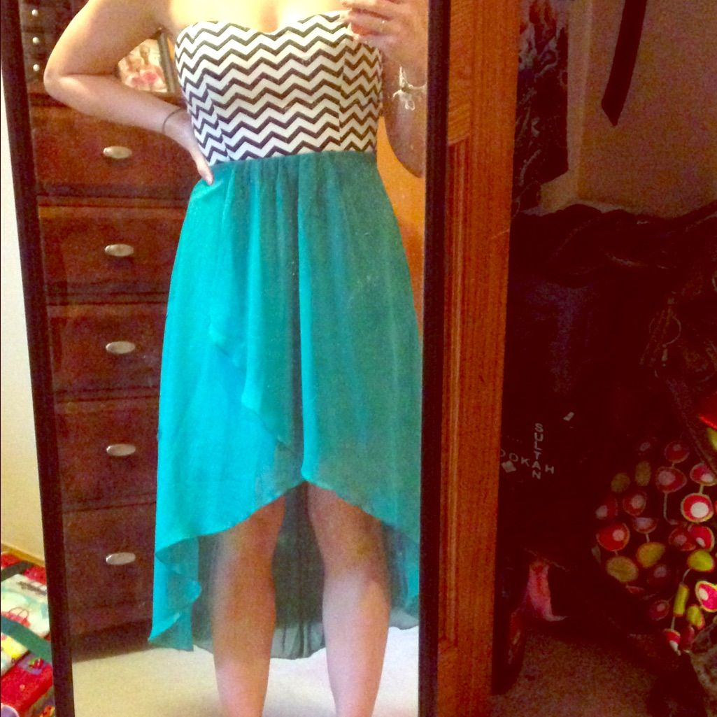 Strapless highlow summer dress products