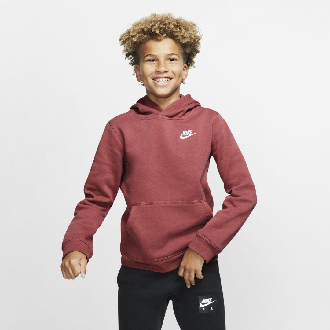 Sportswear Club Big Kids' Pullover Hoodie | Hoodies, Nike