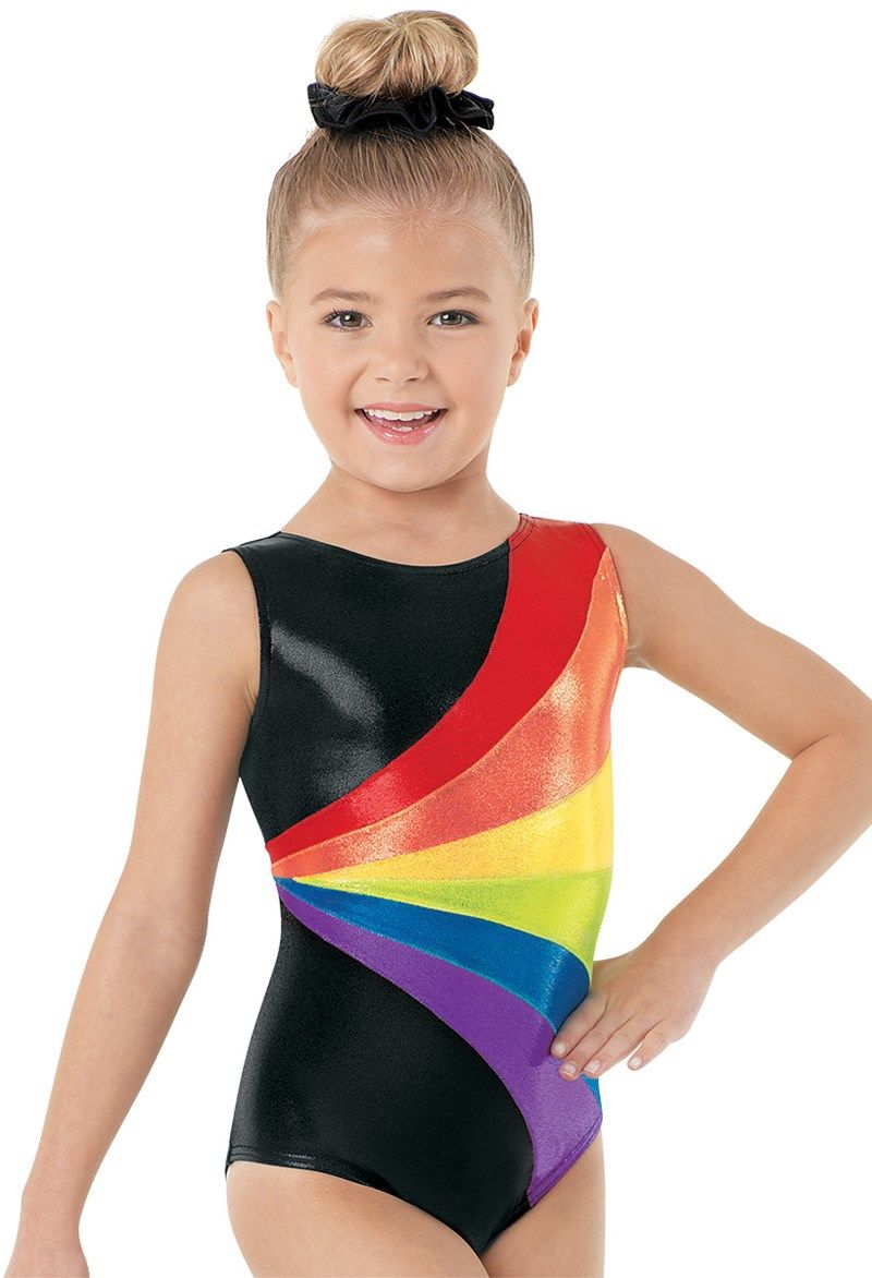 3a655324797e Rainbow Metallic Stripe Gym Leotard