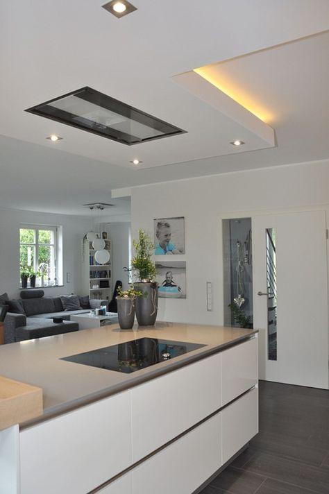 Dunstabzugshaube für offene Küche - ceiling mounted range hood - moderne dunstabzugshauben küche
