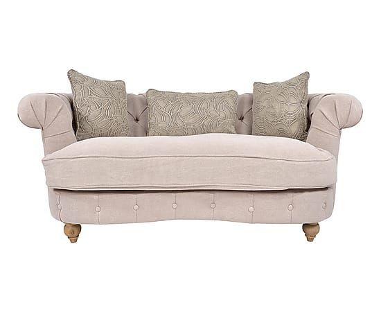 Sof de 2 plazas en madera y lino beige largo 178 cm alto 73 cm ancho 99 cm alto del - Sofa 2 plazas pequeno ...