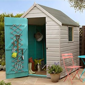 how to paint refresh your garden shed homebase - Garden Sheds Homebase