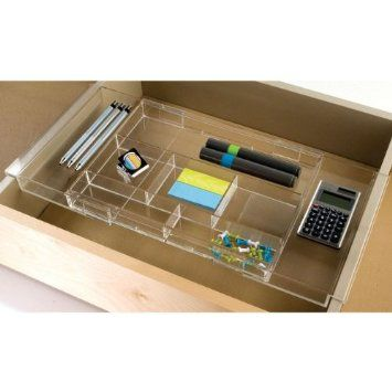 Clear Acrylic Drawer Organizer Organized Desk Drawers Hanging