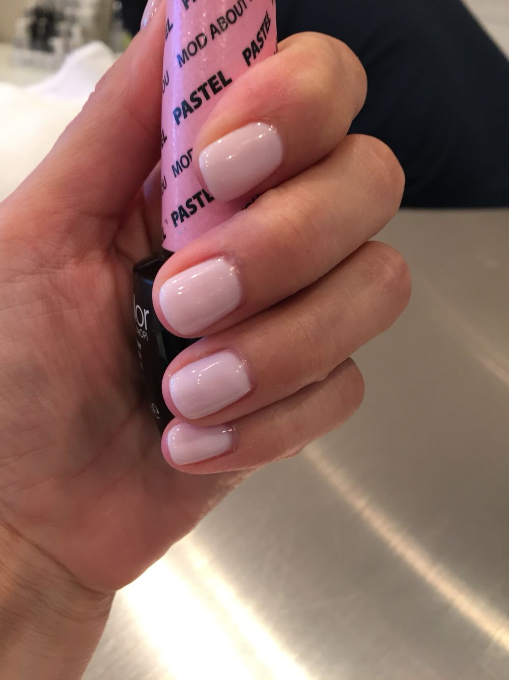 Opi shellac, #bestlightpink polish, #bachelorettenails, mod about you pastel